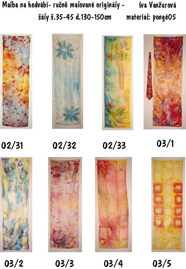 katalog malba na hedvábí